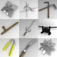3d model asian weapons