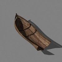 old wooden crashed boat 3d obj