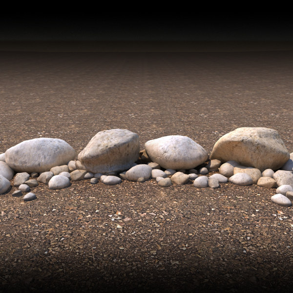 boulders rocks landscaping 3d model - Boulders... by ryrod88