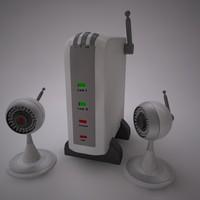 security cameras 3d 3ds