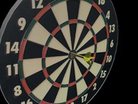 3d dartboard dart model