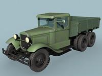 maya gaz-aaa cargo truck wwii