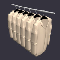 jackets hanging closet 3d model