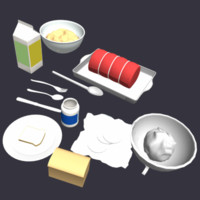 foods meal 3d 3ds