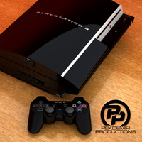 3d model sony playstation 3