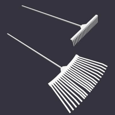3d model lawn rakes - rakes.zip... by bhnh