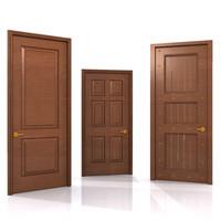 3d model wood doors