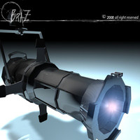 3d model stage light -