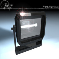 floodlights lighting 3d 3ds