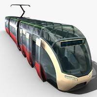 tram concept 3d model