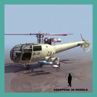 3d aeroespatiale alouette iii israel