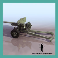 3d model british anti tank gun