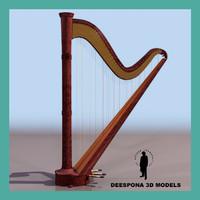 harp musical instrument max