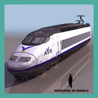 AVE ENGINE EUROPEAN SPANISH TGV HIGH SPEED TRAIN