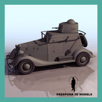 RUSSIAN SOVIET ARMOURED CAR BA 20 WWII