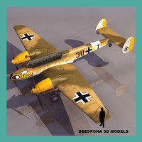 messerschmitt bf 110 f 3d model