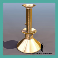 3d model candelabra church brass
