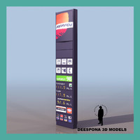 dashboard european gas station 3d model