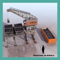 3d large coaling station model