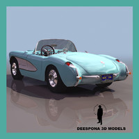 3d model chevrolet corvette sport car