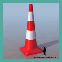 3ds max traffic cone