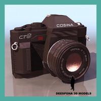 cosina reflex camera 3d max