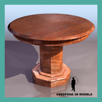 maya circular wood solid table