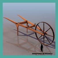 3d farming tool wheeled aper
