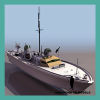 raf rescue boat british 3d model