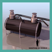 industrial liquid tank fuel 3d ma
