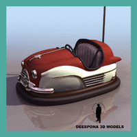dumping car amusement park 3d model