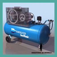 3d electric air compressor unit