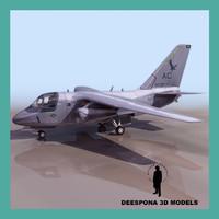 3dsmax es3a navy recon airplane