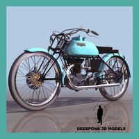 freccia celeste italian motorcycle 3d model