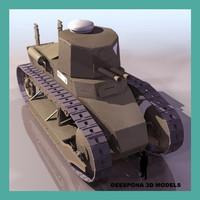 3dsmax fiat 3000 italian tank