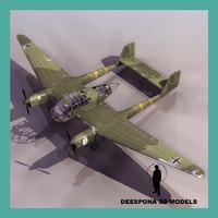 focke-wulf fw 189 uhu 3d model