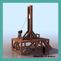 3ds max guillotine french patibule execution
