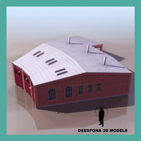 3d train repair building