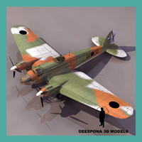 3d model heinkel 111 german bomber