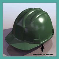 worker security helmet 3d model