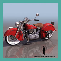 INDIAN CHIEF 348 (1948) US ROAD MOTORCYCLE