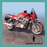 3d suzuki katana motorcycle model