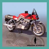 3d suzuki katana motorcycle model