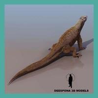 komodo monitor lizard 3d max
