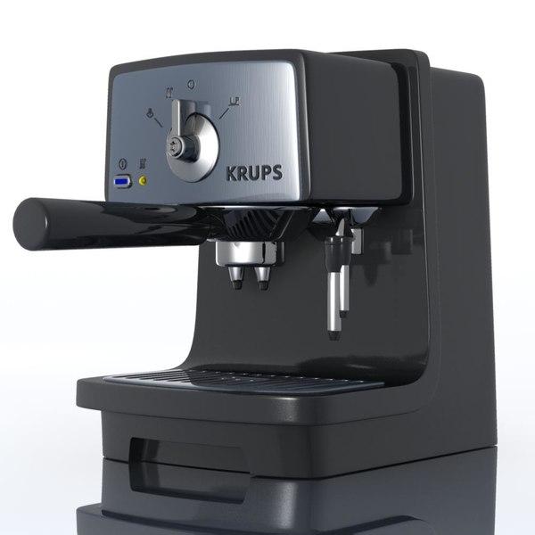 Krups Coffee Maker Xp4020 Manual : krups xp4020 espressomachine 3d model