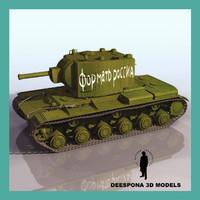 kliment voroshilov tank kv 3d max