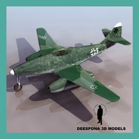 MESSERSCHMITT Me 262 GERMAN JET FIGHTER WWII
