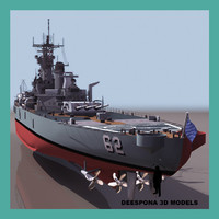 3d uss new jersey bb