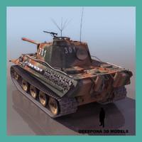 3d model panzer v ausf g