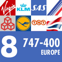 747-400 Collection. Eight European Airlines